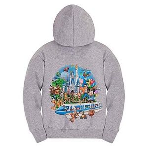 Walt Disney world zip up hooded sweatshirt jacket